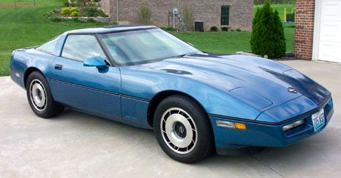 1985 Blue Corvette Coupe. The 1985 Corvette replaced the 205 horsepower L83