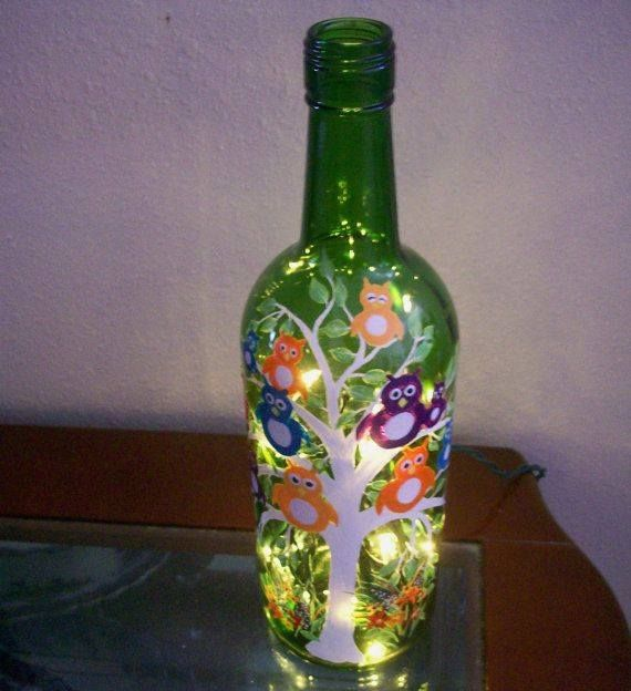17 Best Images About Glass Bottles Decorated On