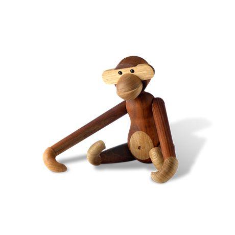 Kay Bojesen Monkey, small Teak and limba, 20 cm
