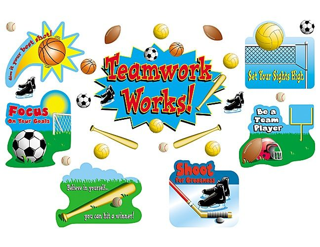 Sports/Teamwork Bulletin Board Display Set