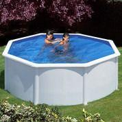 Kit piscine hors-sol Azores acier blanc ronde Ø350 x H132 cm