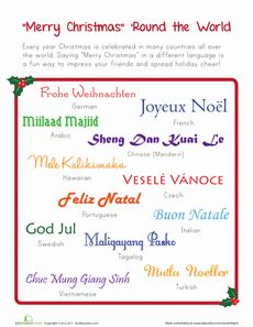 merry Christmas in many different languages from around the world