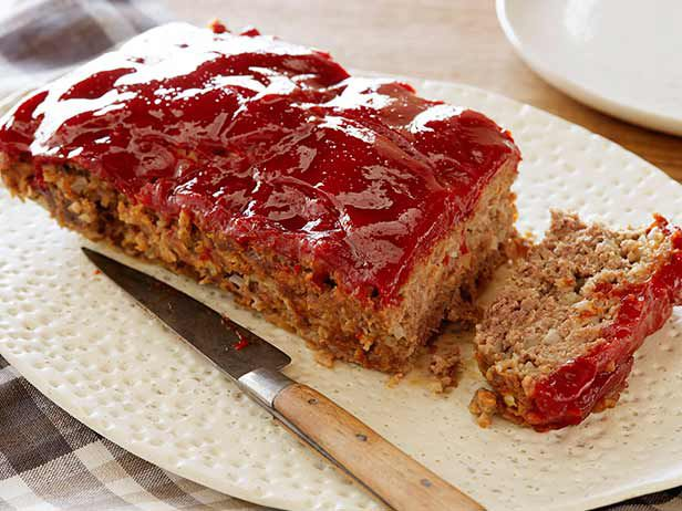 Get this all-star, easy-to-follow Mom's Meatloaf recipe from Diners, Drive-Ins and Dives.