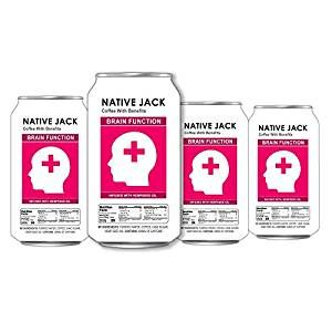 Native Jack Nitro Coffee, Infused With Brain Function Omega 3 Oils, 200mg of Caffeine (4 Count, 11 Fl Oz Each): Amazon.com: Grocery & Gourmet Food