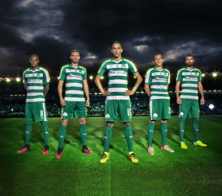 Camisas do Panathinaikos 2016-2017 Puma Titular
