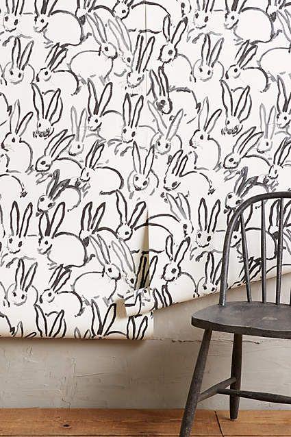 Bunny Day Wallpaper - anthropologie.com