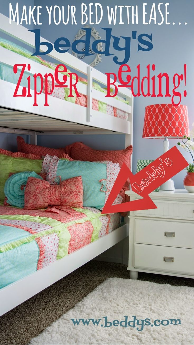 This bedding is perfect for bunk beds! #zipperbedding something to look into for comfort and ease.