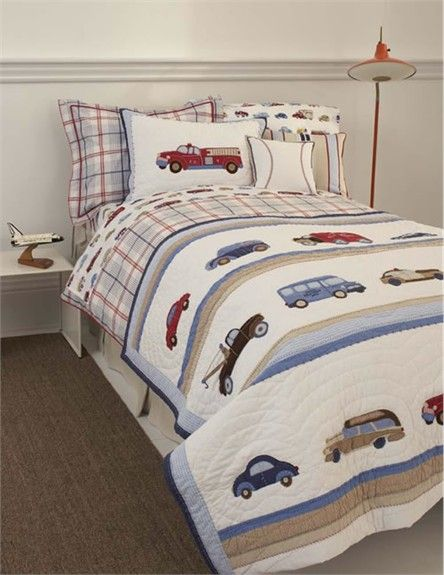 Cars and Trucks Twin Quilt by Whistle & Wink, Kids Bedding ...
