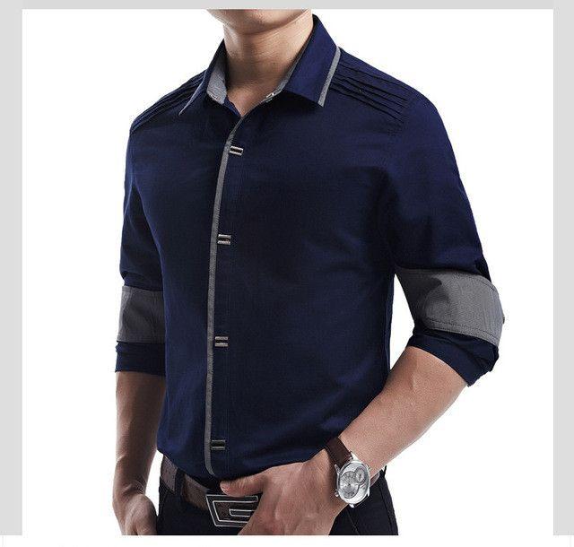 Top Quality Mwxsd brand mens casual long Sleeve Shirts Men Rock Shirt Men Slim Fit solid shirt Male 100% Cotton shirt