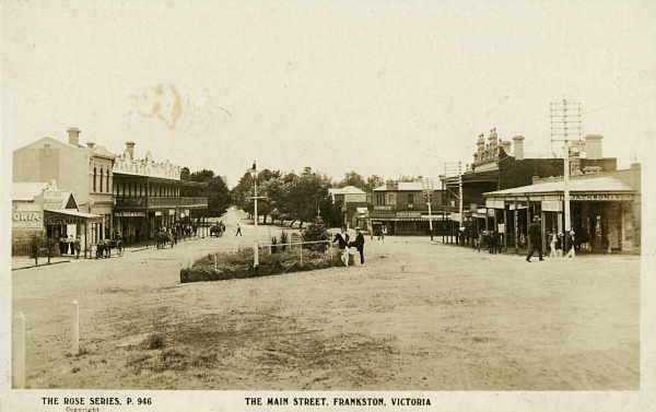 The main street of Frankston ca. 1907