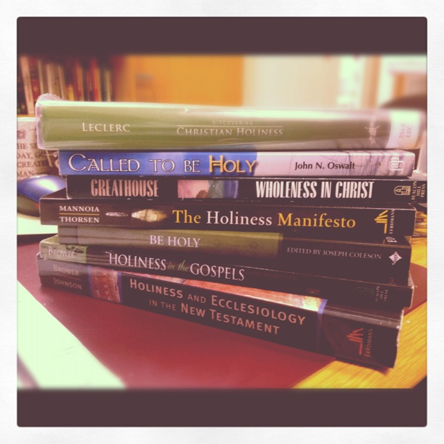 Preparing for a class on sanctification...