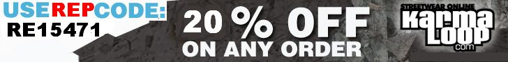 """Save Upto 20% Off KARMALOOP.com Forever! """"The Best STREETWEAR Online Clothing Store"""" Use Rep Code: RE15471 Paste Code In the """"RepCode"""" bo..."""