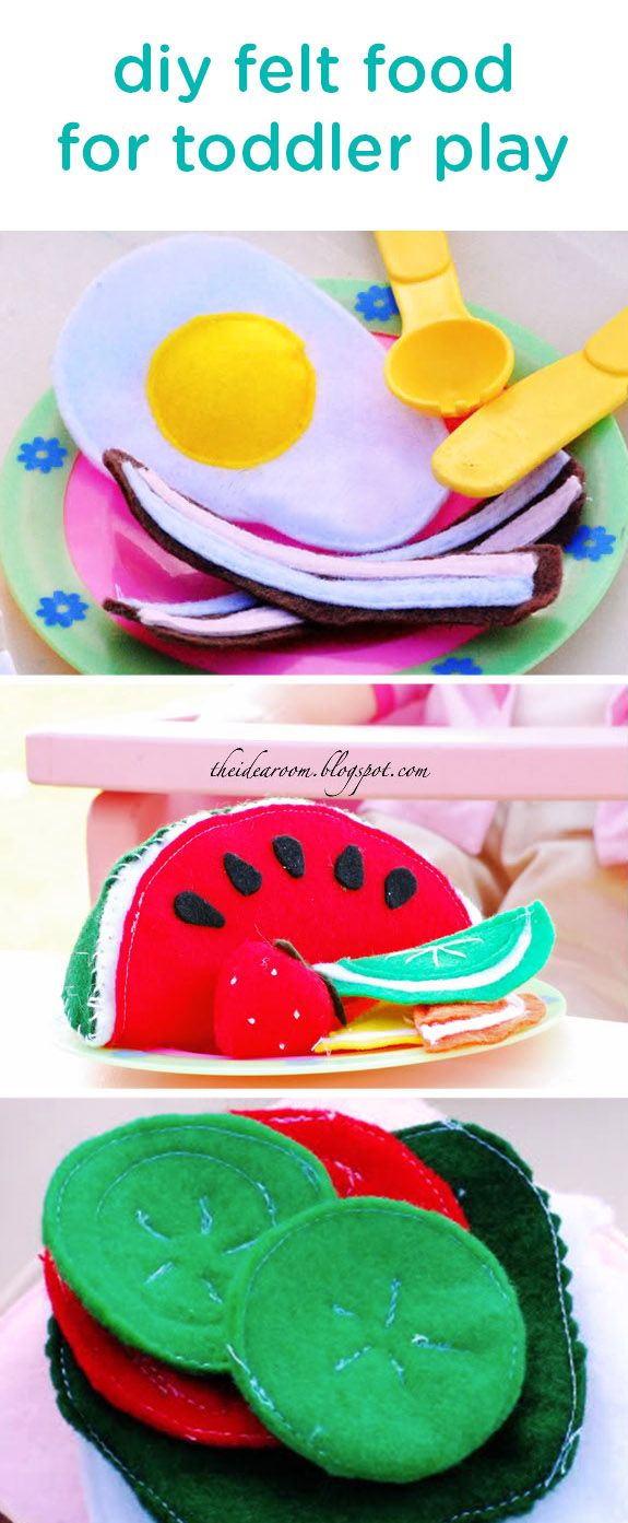 Toys beautiful and affordable all wood play kitchen sets inhabitots - This Adorable Diy Felt Food With A Step By Step How To