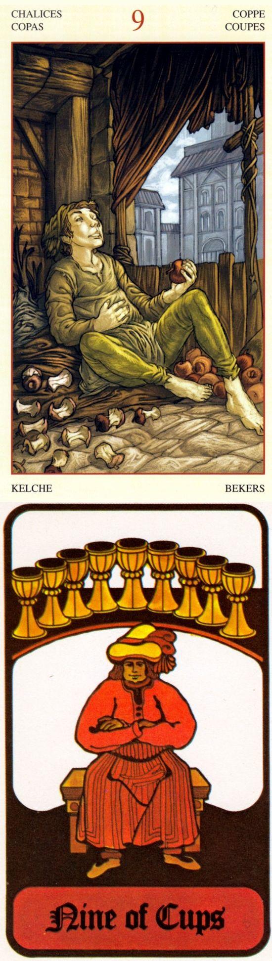 Nine of Cups: self-satisfaction and dissatisfaction (reverse). Mona Lisa Tarot deck and Hoi Poloi Tarot deck: zombietarot, tarotbag and lotus tarot card. Best 2018 ritual sacrifice and cartomancy divination.