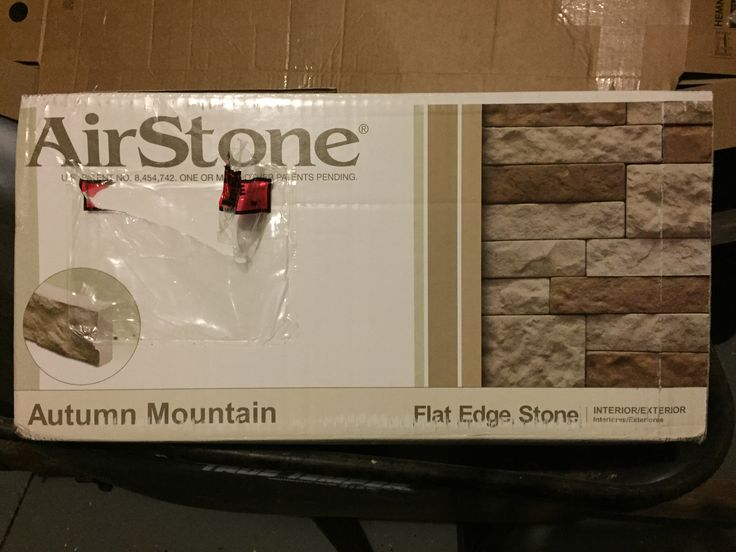 """Best product ever!! Air Stone, only found at Lowe's. Costs about $60 for 8 sq ft which left me with 3 bricks in the end, and $15 for Air Stone adhesive. All you need is a trowel, a hack saw, and Tetris skills . My Father n' Law and I completed the face of my bath in 1 hour! No prep needed, we iced each brick like a cupcake and stuck it directly on the tile. I finished the top with a 3/4"""" primed/painted decorative strip of wood... About $5 more and a squeeze of silicone tub n tile."""