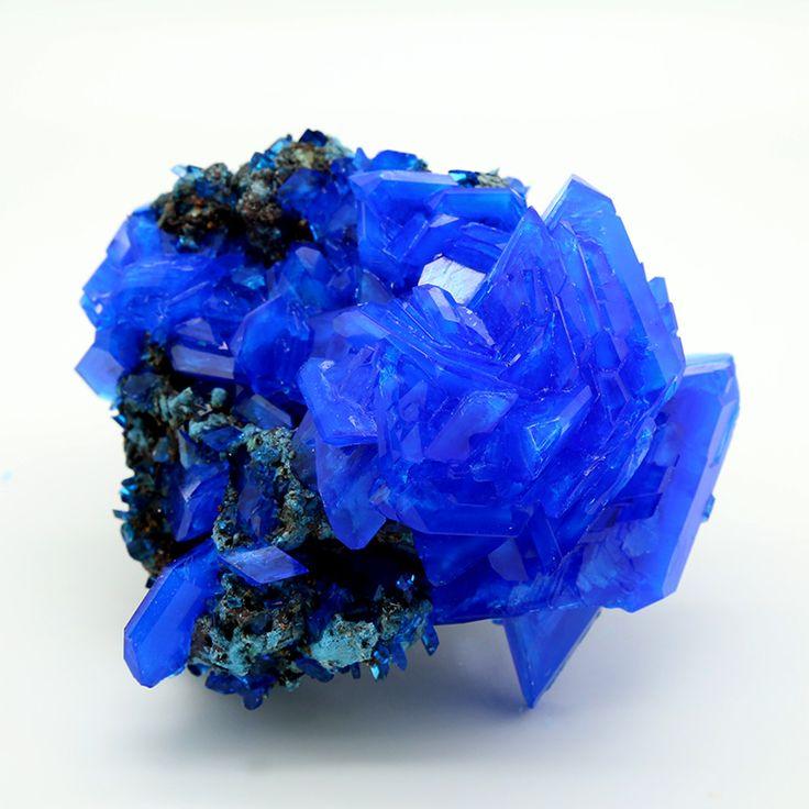 Electric Blue Chalcanthite on Matrix - 210g
