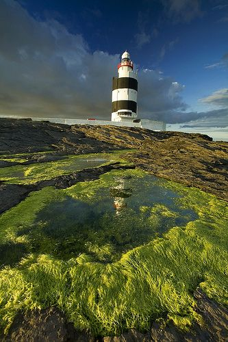 """Ireland. Hook Head lighthouse, in Co. Wexford. """" by Hook or by Crook""""  some say that phrase  was coined here by Oliver Cromwell . His vow was to take Waterford by hook, the town, or by Crook a village nearby."""