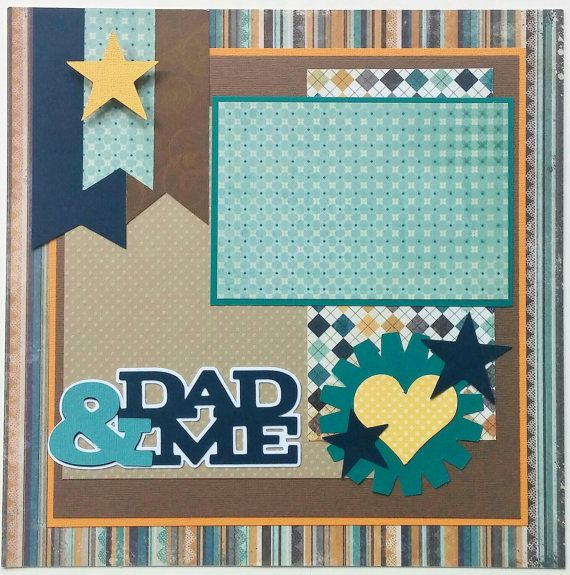Premade scrapbook layout Dad, Dad premade scrapbook layout, Fathers Day…