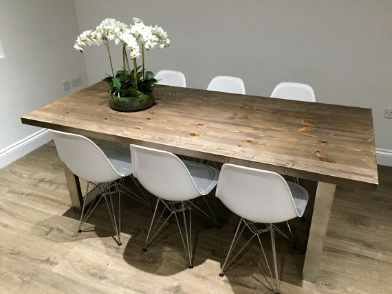 Best 25+ Industrial Dining Tables Ideas On Pinterest | Industrial Dining  Rooms, Industrial Style Dining Table And Black Dining Room Chairs
