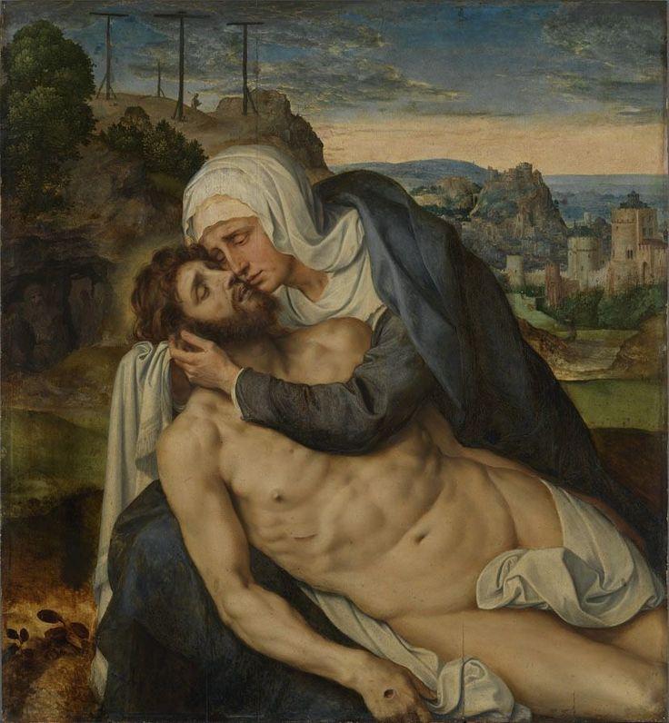 Lamentation of Christ / Lamentación de Cristo // ca. 1550 // Willem Key // Alte Pinakothek // #Jesus #Mary #Pietà #Piedad #mourning #death