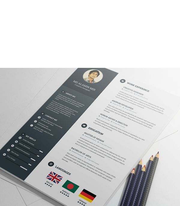 55 Best Curriculos Images On Pinterest | Creative Resume Design