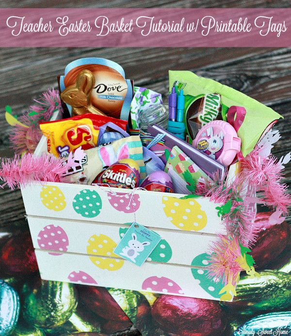 78 best easter images on pinterest easter baskets easter basket teacher easter basket tutorial with printable tags sweetereaster ad negle Image collections