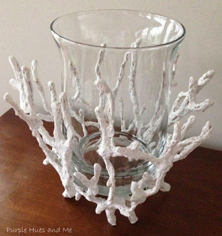 Purple Hues and Me: DIY Faux Coral Glass Candleholder