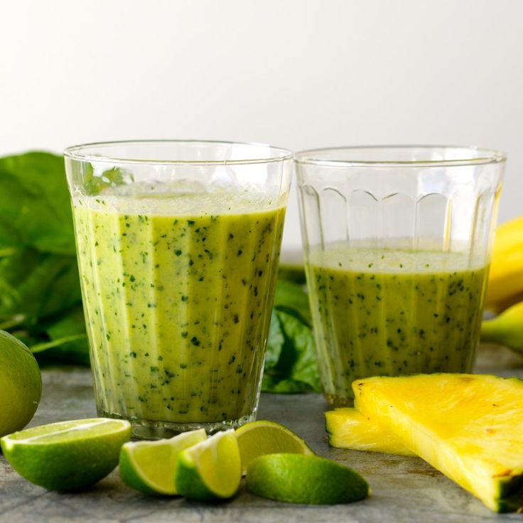 Lime, Coconut, Banana Smoothie