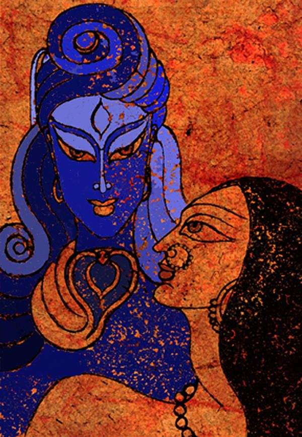 Shiva and Shakti Mixed Media - Shiva and Shakti Fine Art Print by Sonali Chaudhari