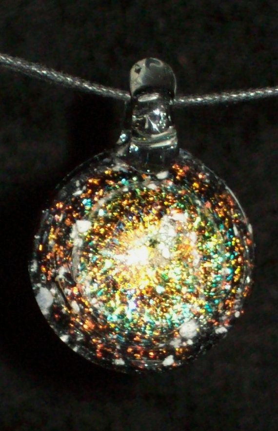 cremation glass jewelry remembrance keepsake necklace pendant human / pet ashes on Etsy, $44.99