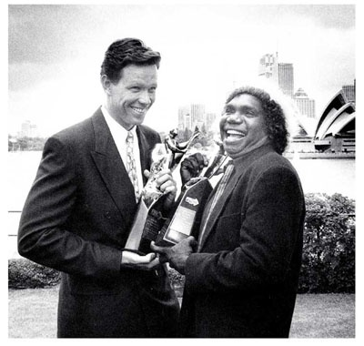 Mandawuy Yunupingu, Australian of the Year & Kieren Perkins, Young Australian of the Year 1992