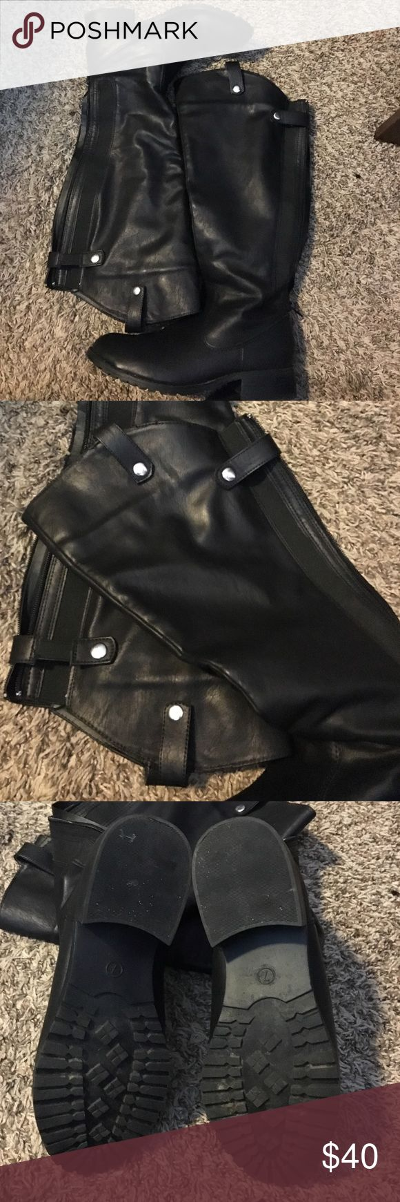 Black knee high boots. Jennifer Lauren knee high boots. Wore only twice. Great condition. Slight heel. Jennifer Lauren Shoes Heeled Boots