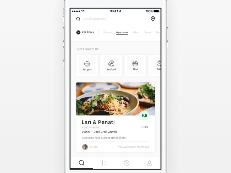 Hello everyone,  Here's my work for Weekly UI challenge from @Degordian. It's a concept for mobile restaurant search. See a larger view in the  → attachment  Hope you like it.