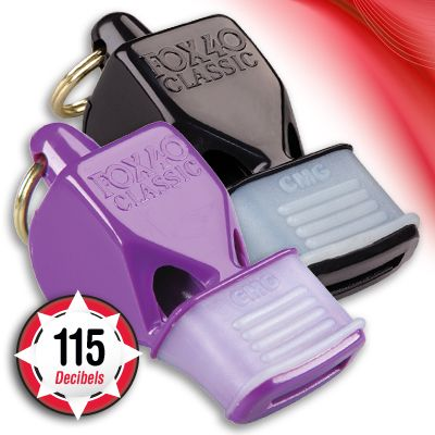 Perfect for outdoor activities. A Cushioned Mouth Grip (CMG) enhances the original Fox 40 Classic Pealess Whistle. Innovative thermoplastic material provides superior grip and protection for your teeth. The Classic CMG is ideal for sports officials or anyone who needs to hold the whistle in their mouth for extended periods of time.