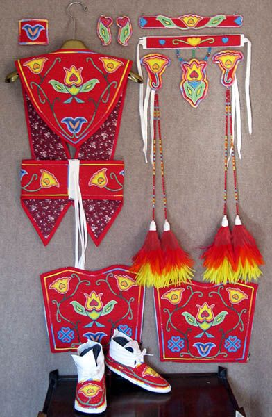Individual pieces for fancy shawl dance regalia