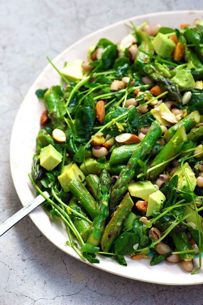 Rainbow power greens salad with black-eyed peas – Cotter Crunch