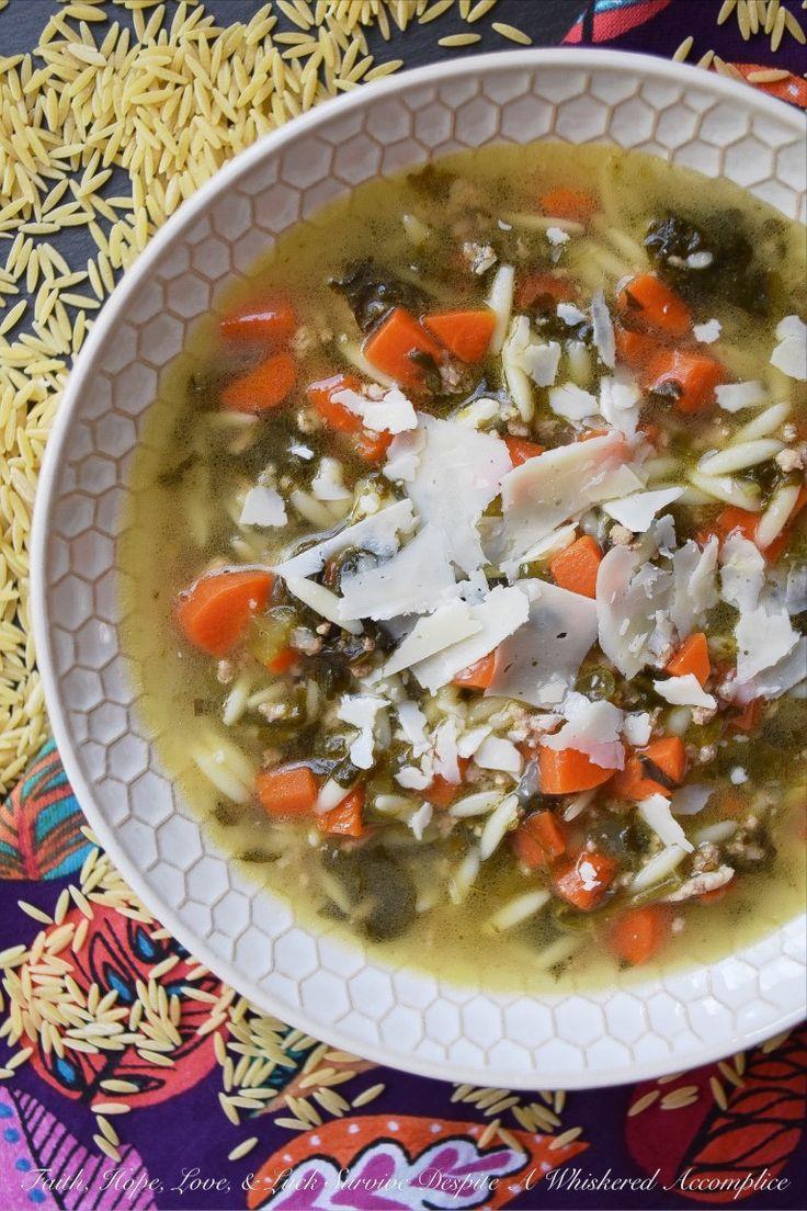 Colleens onepot italian orzo wedding soup italian