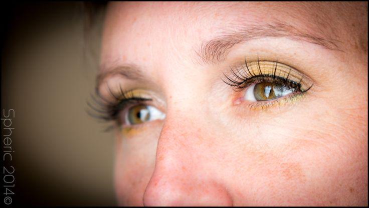 Make-up met valse wimpers