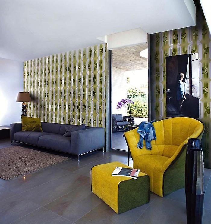 Retro behangpapier EDEM 038-24 retro behangpapier cult 70s stijl ontwerper achtergrond afbeelding afgedrukt licht paarse lavendel paars wit   Fruugo
