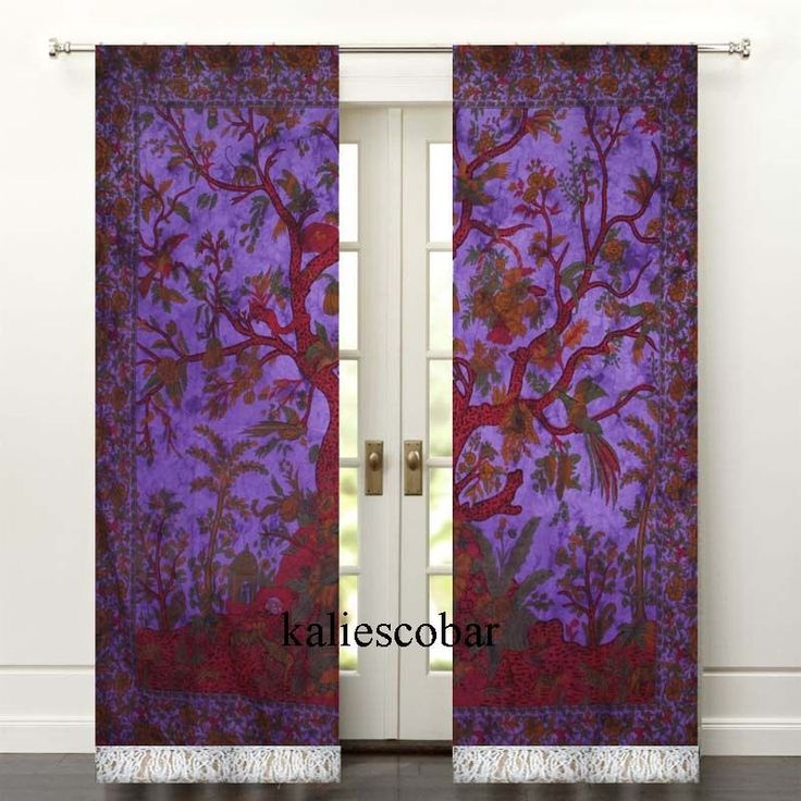 Mandala Tie Dye Curtains Drapes Wall Decor Curtain With Tassel Valances Tapestry #Unbranded #Traditional