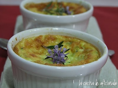 Recipe Boffard with Zucchini in cocotte Flan via La Cocina de aficionado  Receta Flan de Boffard y Calabacín en cocotte vía La Cocina de aficionado