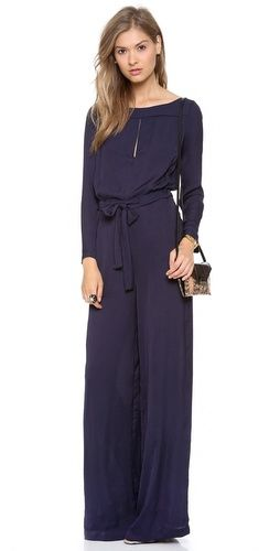 ONE by Jade Slit Neck Jumpsuit Maybe in a light shade of brown...