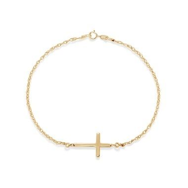 The cross bu Lilou, on a 23k gold-plated chain bracelet: symbol of faith and love. Emotive present! #lilou #infinity #goldplated #chain #present #christmas #lessthan35