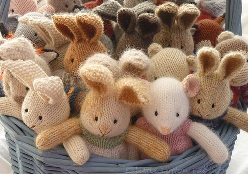 cute little knitted animals