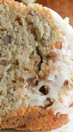 Coconut Pecan Pound Cake with Coconut Cream Cheese ~ The ultimate coconut lovers dessert