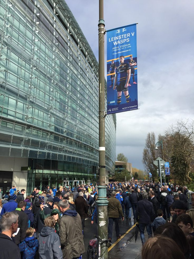Leinster Rugby Dublin Lamppost Banners #civicmedia2017