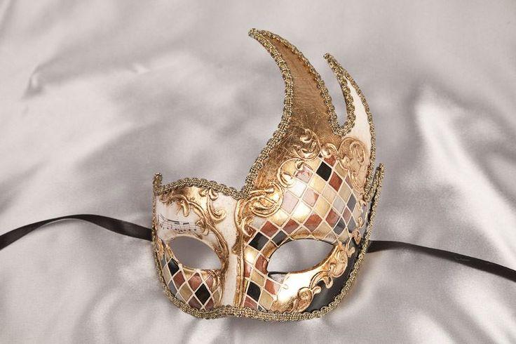 Cheap Masquerade Masks - Swan Shaped Budget Masks - Cigno