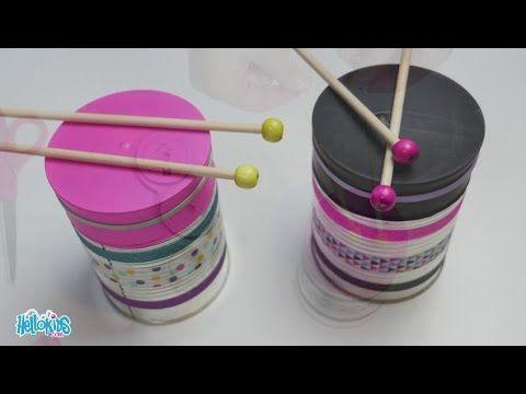BRICOLAGE CARNAVAL : Fabriquer un petit tambourin (Hellokids) (Hellokids) - YouTube