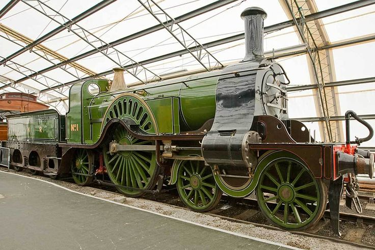 Great Northern , Steam 4-2-2 - National Railway Museum, York, United Kingdom, November 15, 2008 - The absolutely beautiful Great Northern Railway No. 1. The loco is probably the peak of British locomotive builder's obsession with form over function.