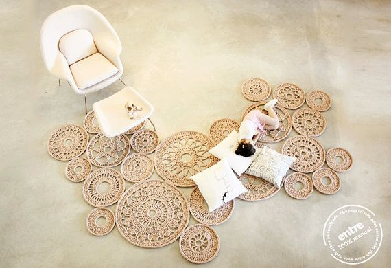big scale handmade MODULAR crochet rug, ENTRE collection - design n 032, born January 2014, by the hands of ARTSPAZIOS